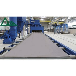 Q69 Roller Conveyor Shot Blasting  Machines For Shotblasting Plates and Structures
