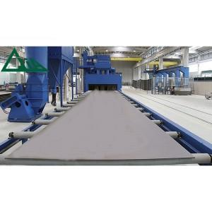 Conveyor Q69 Roller Shot Machines Blasting ສໍາລັບ Shotblasting ມີເຫລັກຫຸ້ມເປັນໂຄງສ້າງ
