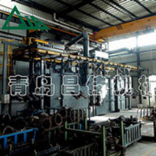 Q38 Overhead Rail Shot Blasting Machine With Hanging Chain
