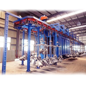 Q38 Hanging chain shotblast machines
