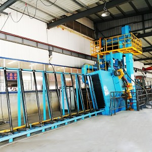 Q69 Roller conveyor sand blasting machines for steel plate