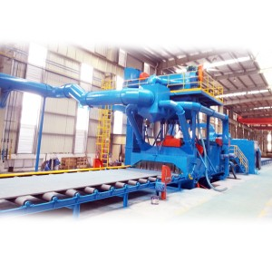 QXY Steel plate pretreatment production line with blasting and spray painting machine