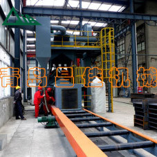 QH69 H Beam And H-Section Steel profile shot sumasabog At Cleaning Machine